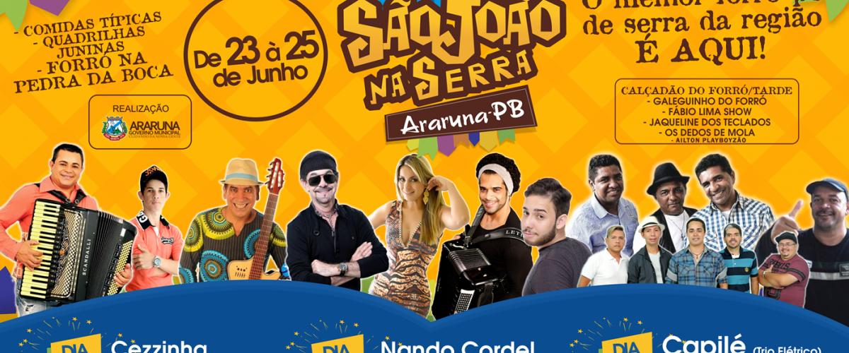 Prefeitura de Araruna anuncia programação do São João na Serra 2017